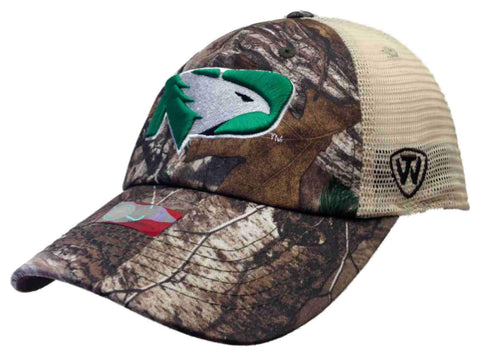 North Dakota Fighting Hawks Camo New Logo Vintage Mesh Adjustable Snap Hat Cap - Sporting Up