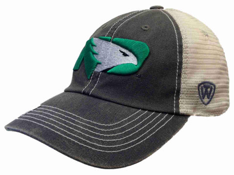 North Dakota Fighting Hawks Gray New Logo Vintage Mesh Adjustable Snap Hat Cap