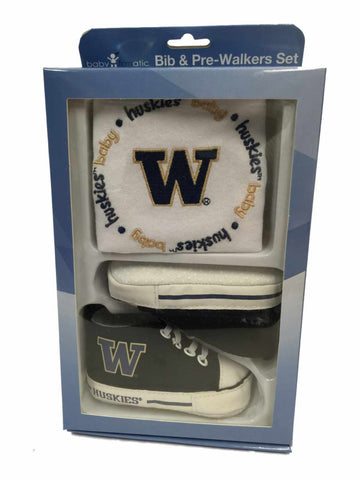 Washington Huskies Baby Fanatic Infant Bib & Pre-Walker Shoes Gift Set