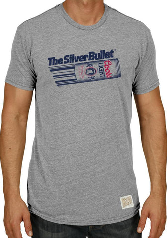 Coors Light Silver Bullet Retro Brand Vintage Beer Brewing Gray T-Shirt