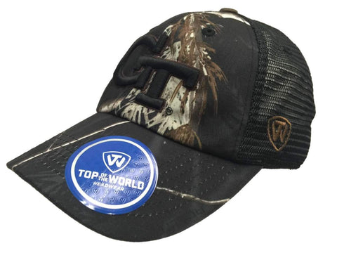 Georgia Tech Yellow Jackets TOW Black Realtree Camo Harbor Mesh Adjust Hat Cap