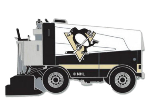 Pittsburgh Penguins WinCraft White & Black Ice Hockey Zamboni Metal Lapel Pin