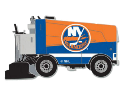 New York Islanders WinCraft Orange & Blue Ice Hockey Zamboni Metal Lapel Pin