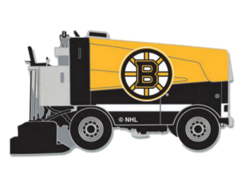 Boston Bruins WinCraft Yellow & Black Ice Hockey Zamboni Metal Lapel Pin