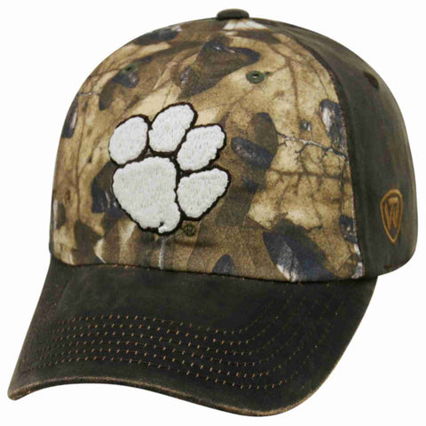 Shop Clemson Tigers TOW Brown Realtree Camo Driftwood Adjustable Slouch Hat Cap