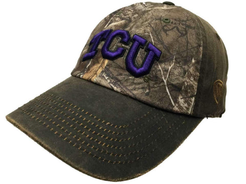 TCU Horned Frogs TOW Brown Realtree Camo Driftwood Adjustable Slouch Hat Cap