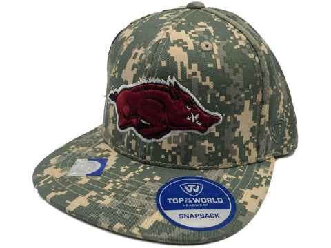 Shop Arkansas Razorbacks TOW Digital Camo Patriot Snap Adjustable Snapback Hat Cap