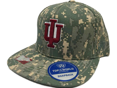 Indiana Hoosiers TOW Digital Camouflage Patriot Snap Adjustable Snapback Hat Cap