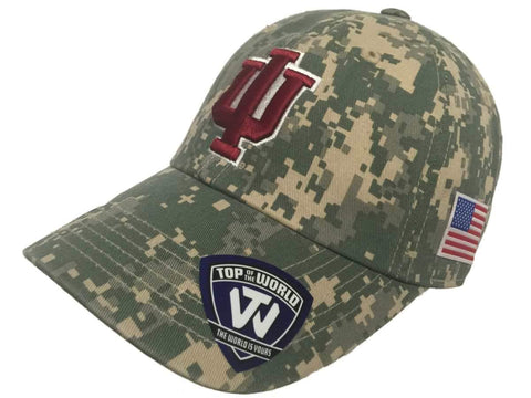 Indiana Hoosiers TOW Digital Camouflage Flagship Adjustable Slouch Hat Cap