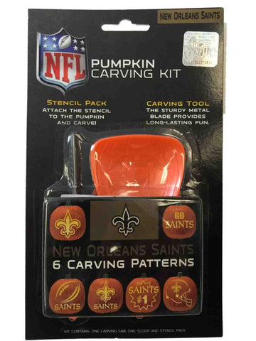 New Orleans Saints NFL Topperscot Team Logo Halloween Pumpkin Carving Kit
