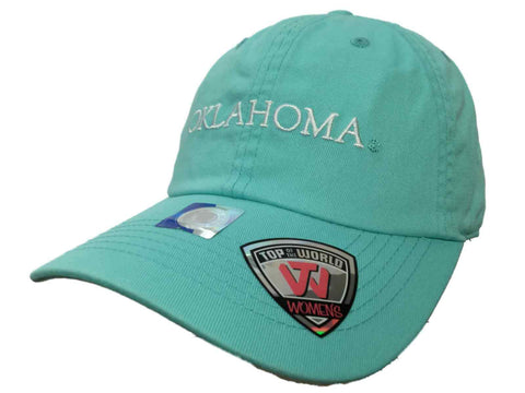 Oklahoma Sooners TOW WOMEN Mint Green Seaside Adjustable Slouch Hat Cap