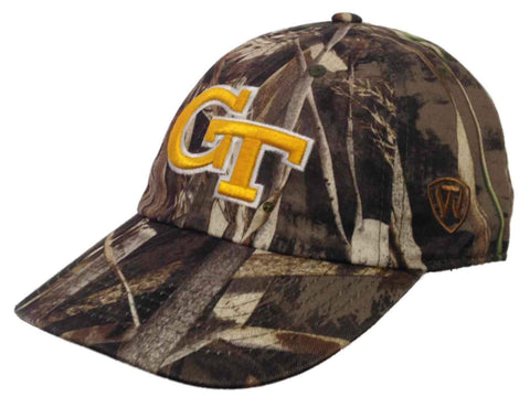 Georgia Tech Yellow Jackets TOW Realtree Max-5 Camo Crew Adjustable Hat Cap