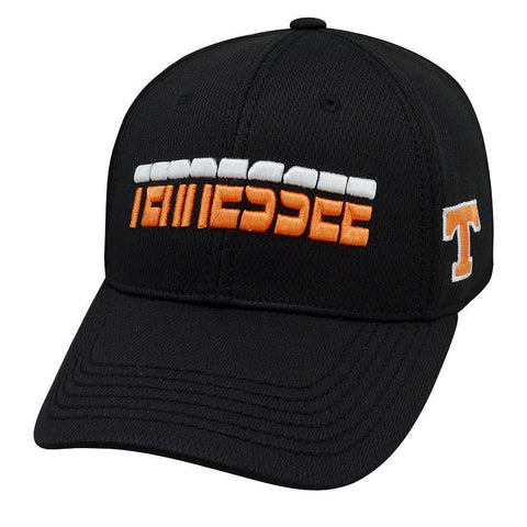 Tennessee Volunteers TOW Black Performance Mesh Vigor Memory Flexfit Hat Cap