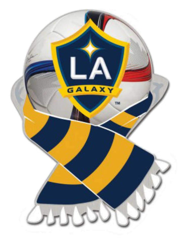 Los Angeles LA Galaxy WinCraft Yellow & Navy Soccer Scarf Metal Lapel Pin