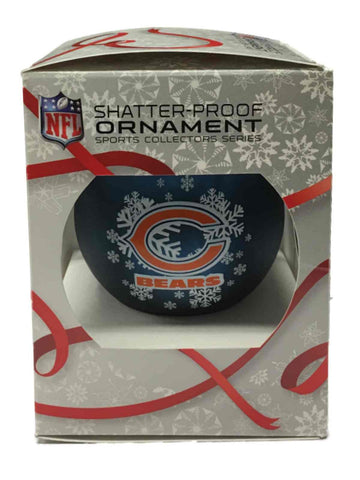Shop Chicago Bears NFL Topperscot Snowflake Shatterproof Christmas Ornament