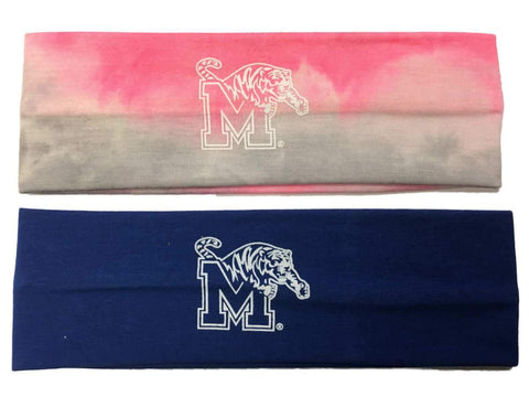 Memphis Tigers TOW Blue & Tie-Dye Pink 2 Pack Yoga Headbands