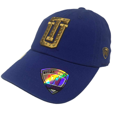 Tulsa Golden Hurricane TOW WOMEN Blue Flair Bling Adjustable Strap Hat Cap