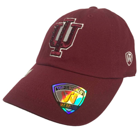 Indiana Hoosiers TOW WOMEN Dark Red Flair Bling Adjustable Strap Slouch Hat Cap