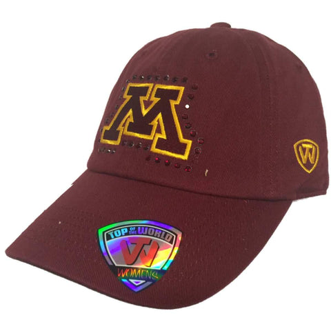 Minnesota Golden Gophers TOW WOMEN Red Flair Bling Adjustable Slouch Hat Cap