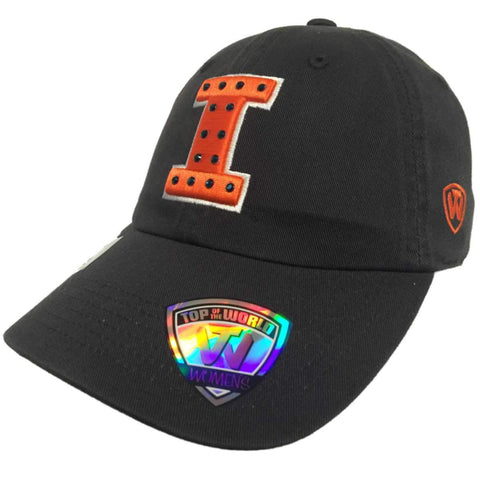 Illinois Fighting Illini TOW WOMEN Gray Flair Bling Adjustable Slouch Hat Cap