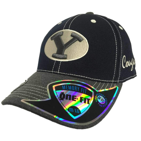 BYU Cougars TOW Navy Gray High Post Memory Flexfit Structured Hat Cap