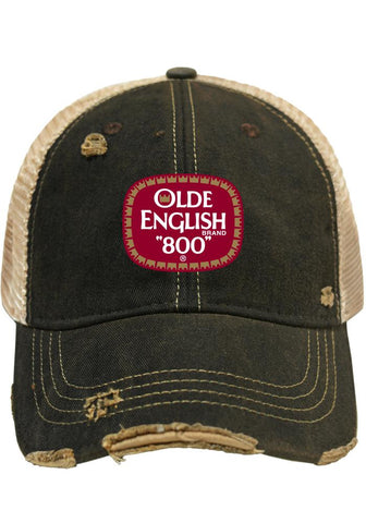 Olde English 800 Malt Liquor Brewing Company Retro Brand Beer Mesh Hat Cap
