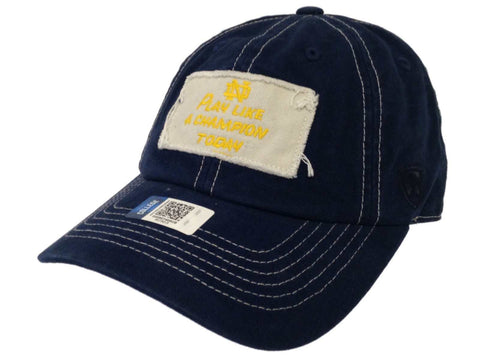 competitive price 8b83e 4e7ad Shop Notre Dame Fighting Irish Navy Canvas Play Like a Champion Slouch Adj  Hat Cap