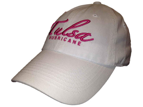 Tulsa Golden Hurricane TOW Women's White Paradi Pink Adjustable Slouch Hat Cap