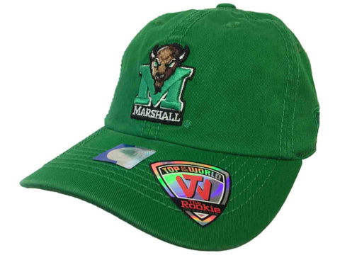 Marshall Thundering Herd TOW Youth Rookie Green Crew Adjustable Slouch Hat Cap