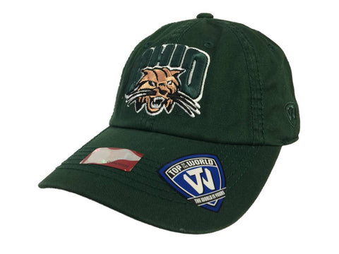 Ohio Bobcats Tow Green Crew Adjustable Strapback Slouch Relax Hat Cap