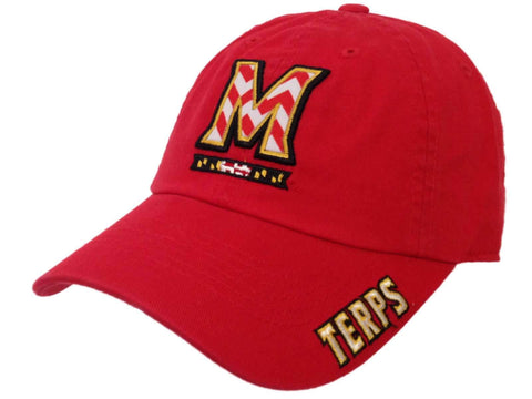 Maryland Terrapins TOW WOMEN Red Chevron Crew State Adjustable Slouch Hat Cap