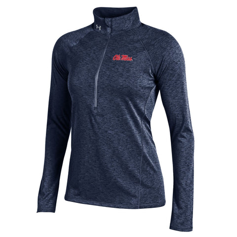 Ole Miss Rebels Under Armour Women Lightweight Performance 1/2 Zip Pullover - Sporting Up