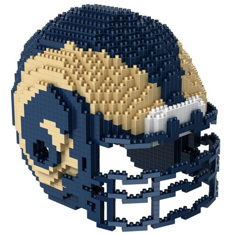 Los Angeles Rams NFL Forever Collectibles BRXLZ 3-D Helmet Construction Toy