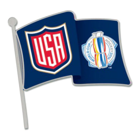 United States USA 2016 World Cup of Hockey WinCraft Navy Team Metal Lapel Pin