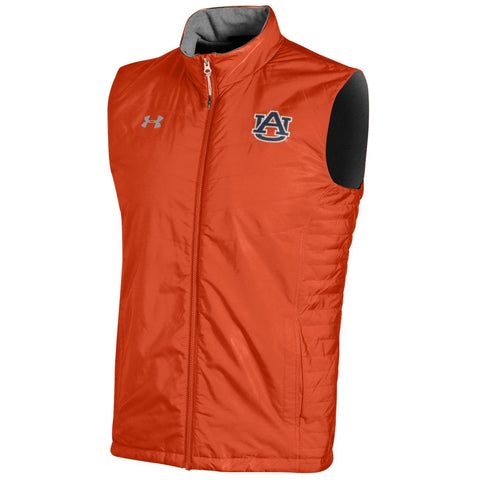 Auburn Tigers Under Armour Orange Microfleece ColdGear Storm1 Full-Zip Vest