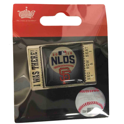 "San Francisco Giants 2016 MLB Postseason NLDS ""I Was There"" Metal Lapel Pin"