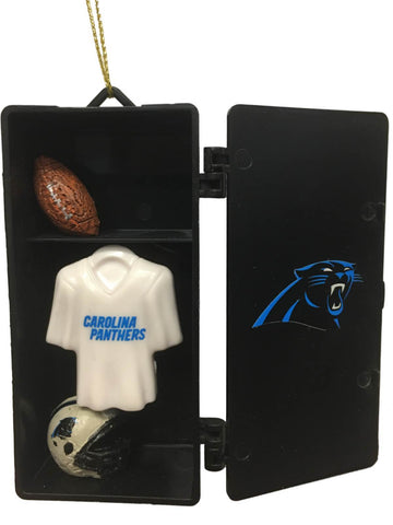 Shop Carolina Panthers Team Sports Black Team Locker Christmas Tree Ornament