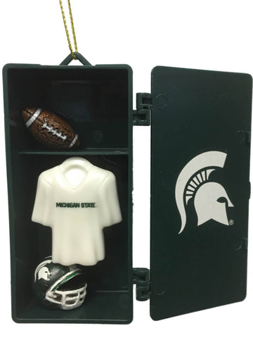Michigan State Spartans Team Sports Green Team Locker Christmas Tree Ornament
