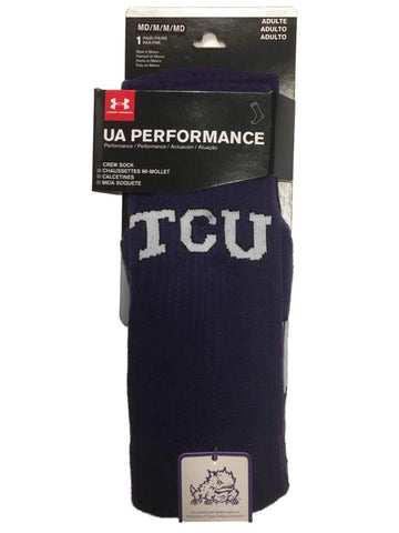 TCU Horned Frogs Under Armour Performance Men's Purple Crew Socks