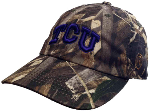 TCU Horned Frogs TOW Realtree Max-5 Camouflage Crew Adjustable Slouch Hat Cap