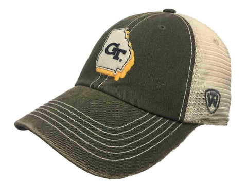 Georgia Tech Yellow Jackets TOW Gray Mesh United Adjustable Snapback Hat Cap