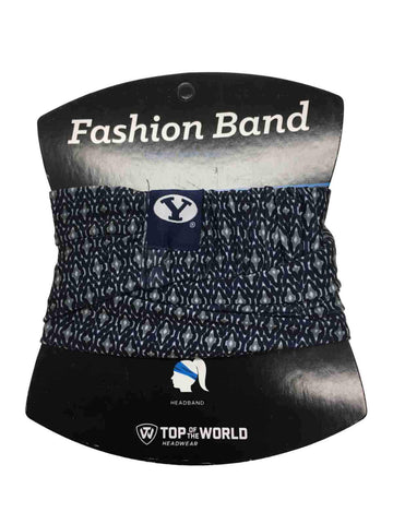 BYU Cougars TOW Women's Navy & Gray Ultra Soft Kitty Fashion Headband