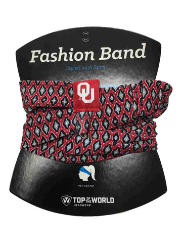 Oklahoma Sooners TOW Women's Red & Black Ultra Soft Kitty Fashion Headband