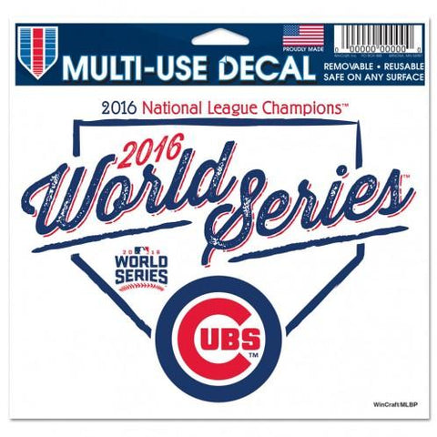 Shop Chicago Cubs 2016 World Series N.L. Champions WinCraft White Multi-Use Decal
