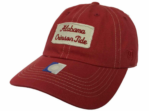 Alabama Crimson Tide TOW Red Canvas Vault Retro 1974 Adjustable Hat Cap