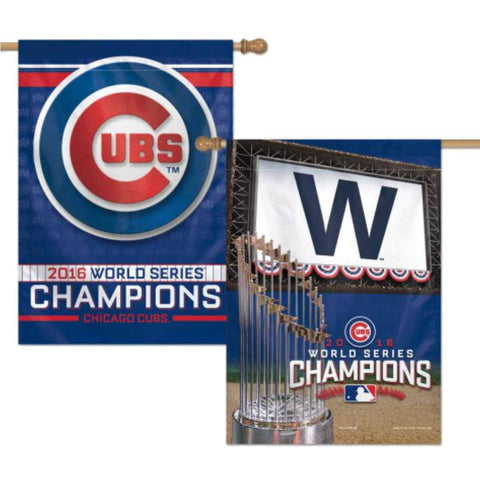 Shop Chicago Cubs 2016 World Series Champions WinCraft Premium 2-Sided Vertical Flag