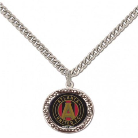 "Atlanta United FC WinCraft Women's Team Color Necklace w Charm Clamshell (18"")"