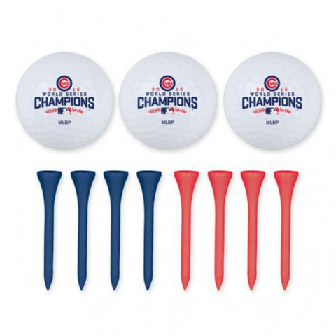 Shop Chicago Cubs 2016 World Series Champions WinCraft Golf Balls & Tee Set