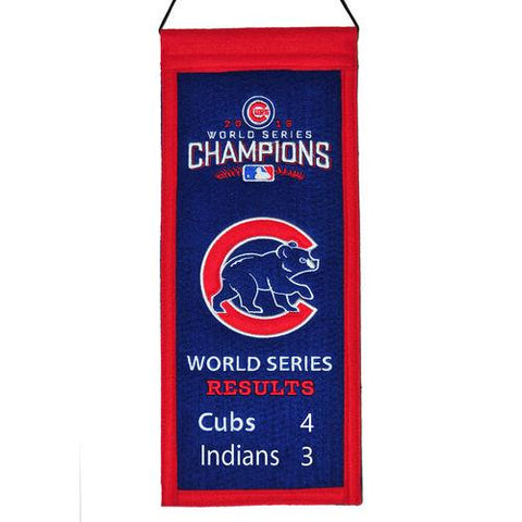 Chicago Cubs 2016 World Series Champions Embroidered Wool Mini Banner