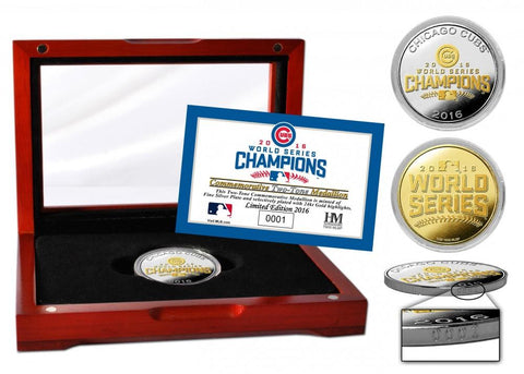 Chicago Cubs 2016 World Series Champions Silver & Gold Two-Tone Mint Coin